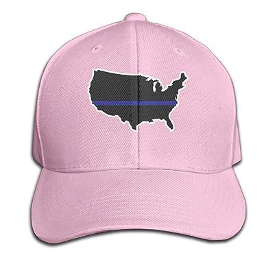 Back la azul mapa de Estados Unidos Gorra de béisbol gorras de ...