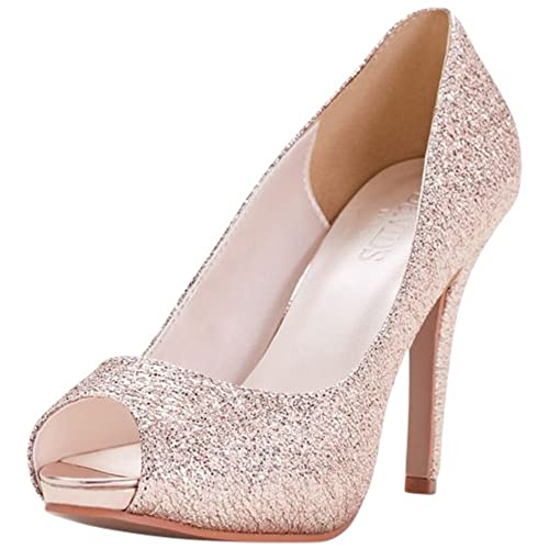 db8314582110 Glitter Platform Peep-Toe Heels Style ZOELLE
