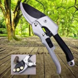 elegantstunning Convenient Hand Gardening Scissors Branch Pruning Scissors with Pulley