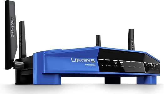 Linksys WRT3200ACM Dual-Band Gigabit Smart WiFi Router (AC3200, MU-MIMO, Tri-Stream 160 Technology, Open Source Ready)
