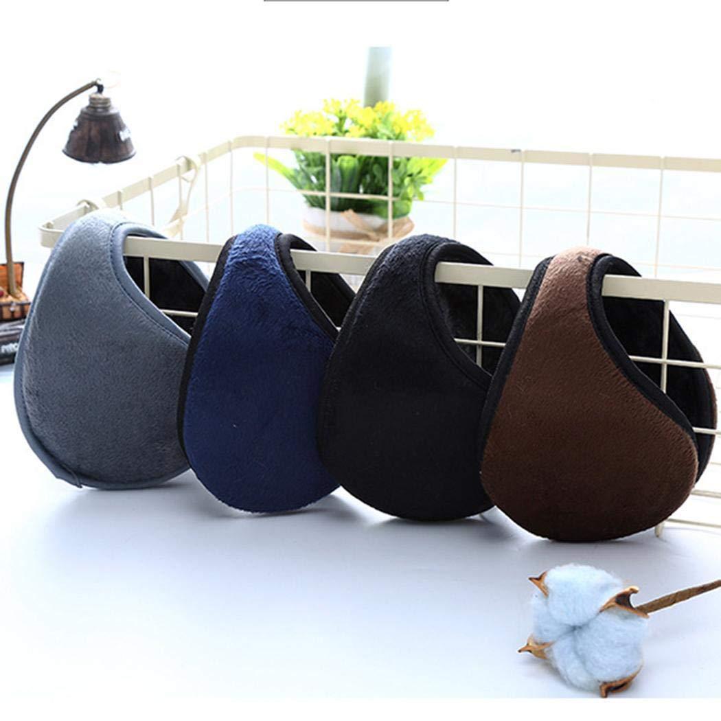 Halffle 1 Pcs Men Earmuffs, Foldable Ear Warmer Unisex, Thicken Ear Warmer Earmuffs, Classic Winter Outdoor Earmuffs