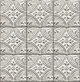 Brewster 2767-23763 Brasserie Tin Ceiling Tile Wallpaper, Silver