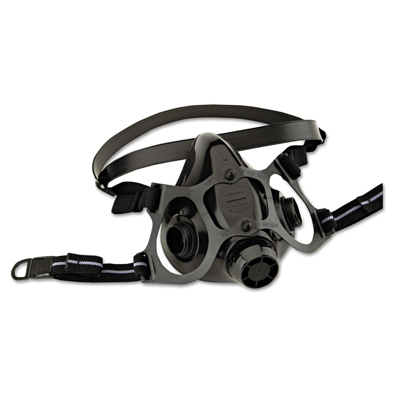 North Medium Black Silicone 7700 Series Half Mask Facepiece by Honeywell
