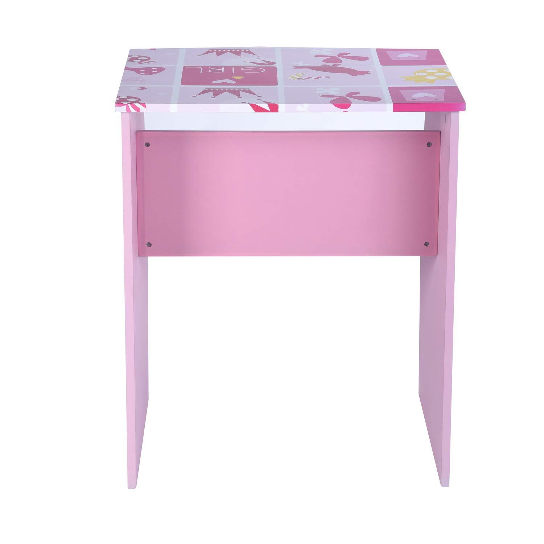 GreenForest Kids Desk with 3 Tier Storage Shelf Wood Computer Laptop Desk Set for Girls Study Desk Set Pink by GreenForest (Image #3)