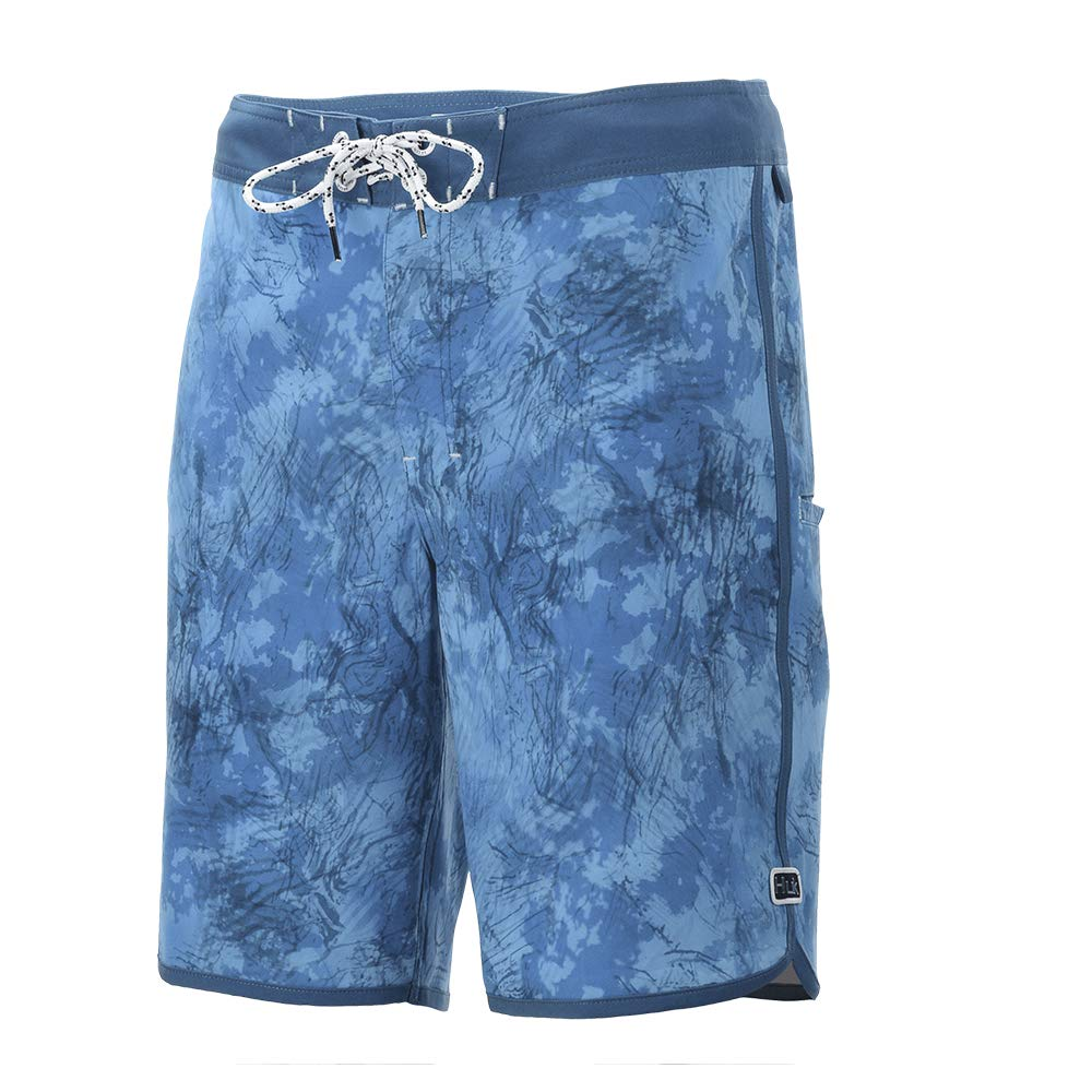 HUK Classic 20in Red Black Floral Boardshort H2000062-002
