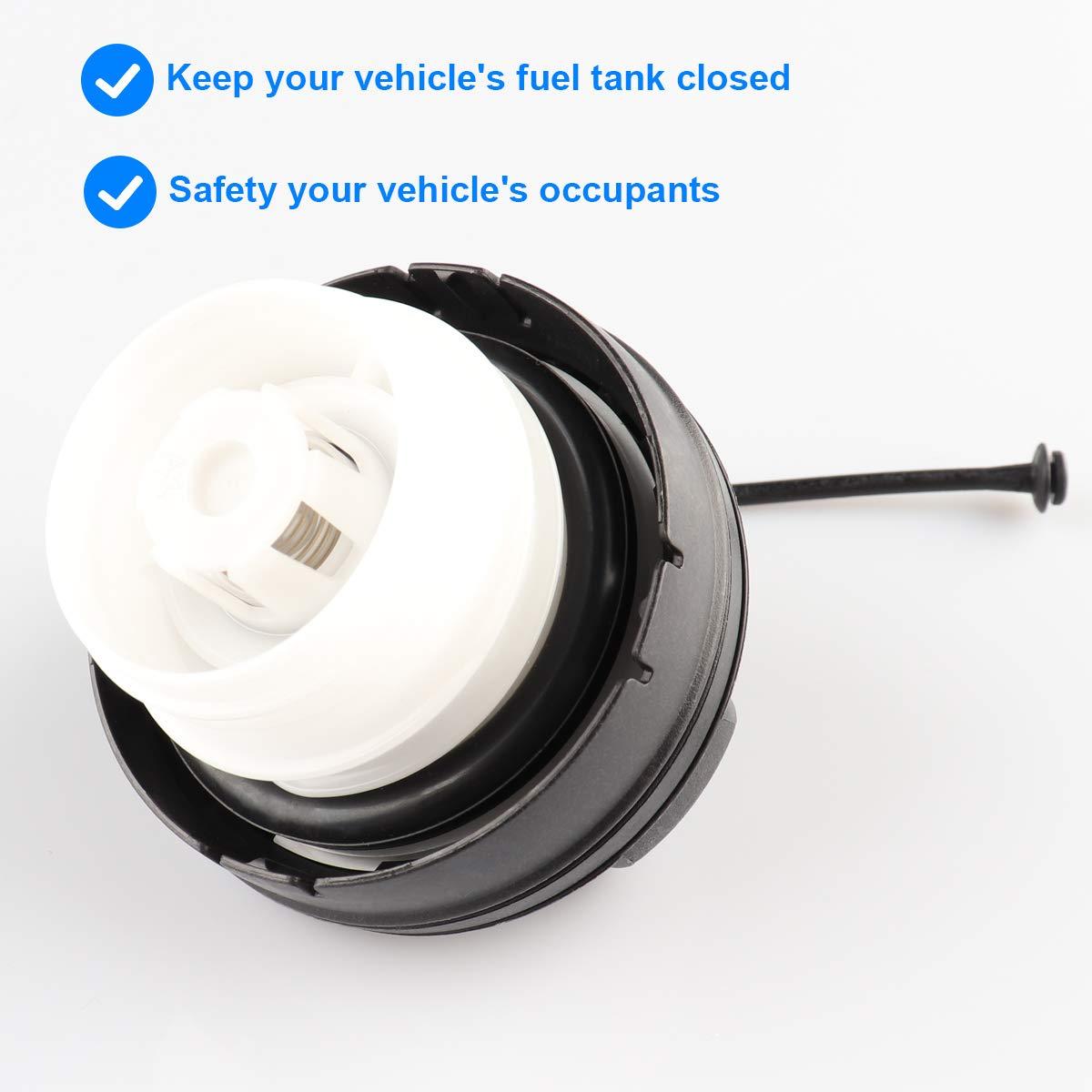 2006-2015 Honda Civic 2007-2016 Honda CR-V Fuel Tank Cap Assembly Replaces# 17670-T3W-A01 Fits 2008-2017 Honda Accord 2011-2017 Honda Odyssey /& more Gas Cap 2009-2013 /& 2015-2017 Honda Fit