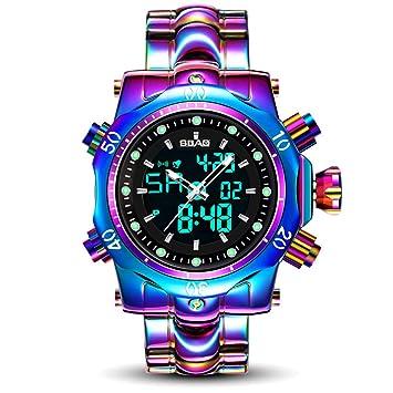 EJOLG 2018 Reloj De Electronico Inteligente Hombres Moda, con Calendario Luminoso,Prueba De Agua