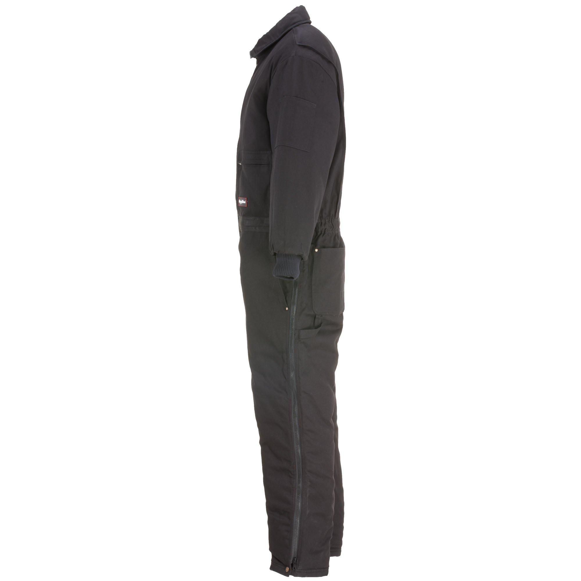 RefrigiWear Men's Water-Resistant Insulated Denim Comfortguard Coveralls (Black, XL) by RefrigiWear (Image #3)