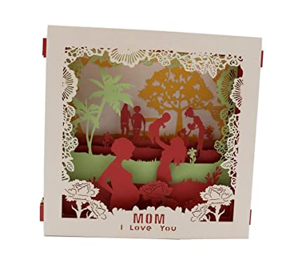 Amazon IShareCards 3D Pop Up Display Greeting Card For Mom From