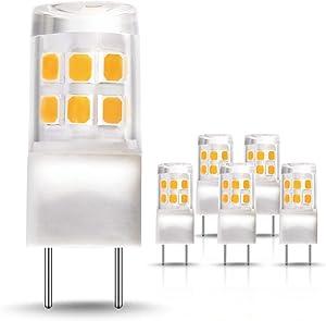 G8 LED Light Bulb, JandCase 2.5W Light Bulb, 4000k Natural White, Over & Under Cabinet Lighting, 20W Equivalent, 200LM, Not Dimmable, Bi-Pin G8 Base, Ideal for Kitchen Light, 5 Pack