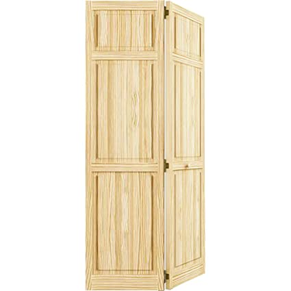 Closet Door Bi Fold 6 Panel Style Solid Wood 80x24