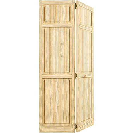 Bi Fold Door Six Panel Style Solid Wood 80x36 Closet Storage