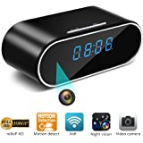 Spy Camera Nanny Cam WiFi Hidden Cameras in Clock Mini HD 1080P Wireless Hidden Camera Indoor Home Security Monitoring 150° Angle Night Vision Motion Detection Remote View App iOS/Android