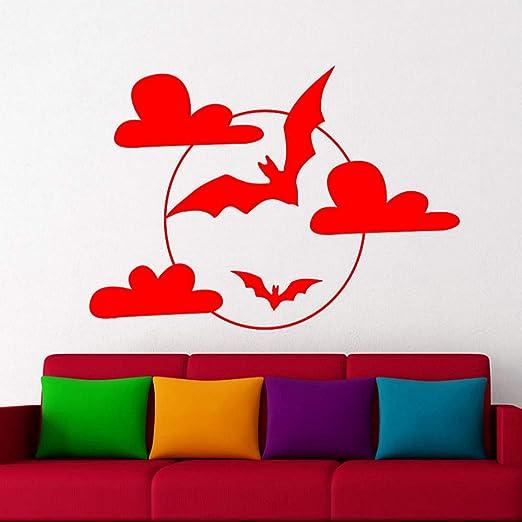 zhuziji Estilo de Halloween Tatuajes de Pared Flying Bat Vinilo ...