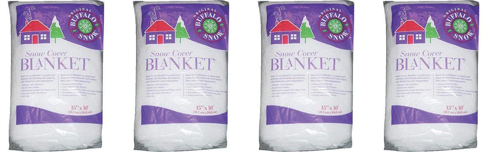 Buffalo Batting Snow Cover Blanket 15in.x10ft. 1/Pkg (Fоur Paсk)
