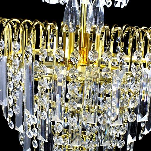 Lightinthebox European-Style Luxury 6 Lights Chandelier In Crown Shape, Crystal Home Ceiling Light Fixture, Pendant Light Chandeliers Lighting for Dining Room, Bedroom, Living Room by LightInTheBox (Image #6)