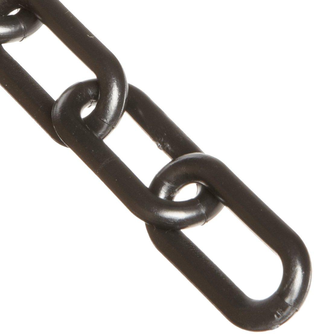 Mr. Chain Plastic Barrier Chain, 1.5' Diameter, 50' Length, Black 1.5 Diameter 50' Length