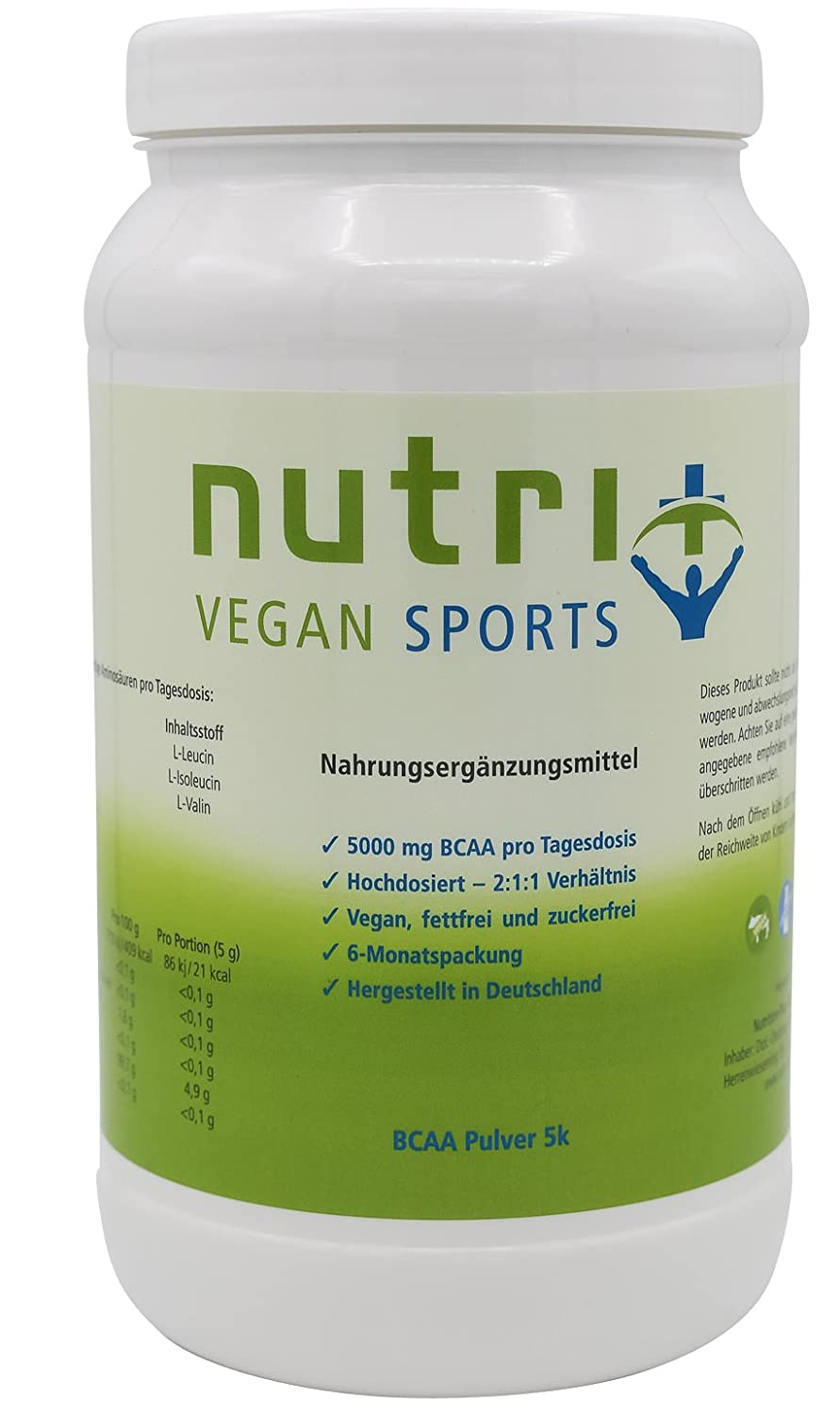 Nutri-Plus Vegan Sports BCAA Pulver
