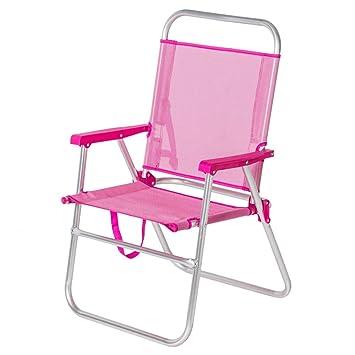 Silla de Playa Plegable Rosa de Aluminio Moderna Garden ...
