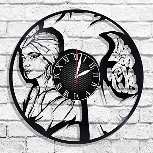 BombStudio Alicia Keys Vinyl Record Wall Clock, Alicia Keys Handmade for Kitchen, Office, Bedroom. Alicia Keys Ideal Wall Poster]()