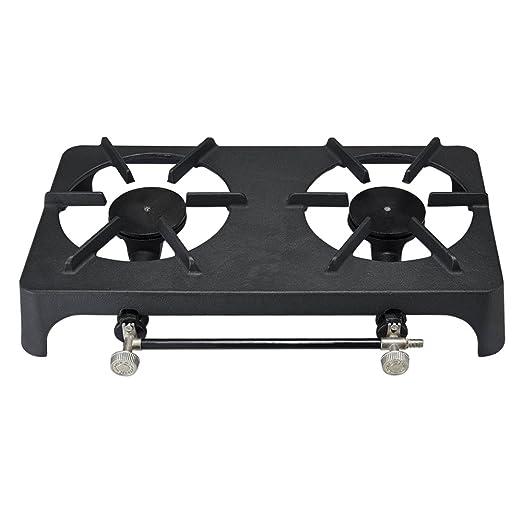 Camping estufa individual hierro fundido ebullición ring estufa GLP Gas quemador cocina apto para propano o