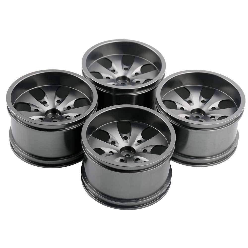 Toyoutdoorparts RC 08008N Alumiunm Gray Wheels 4pcs for RedCat 1:10 Nitro Volcano S30 Truck by Toyoutdoorparts (Image #7)