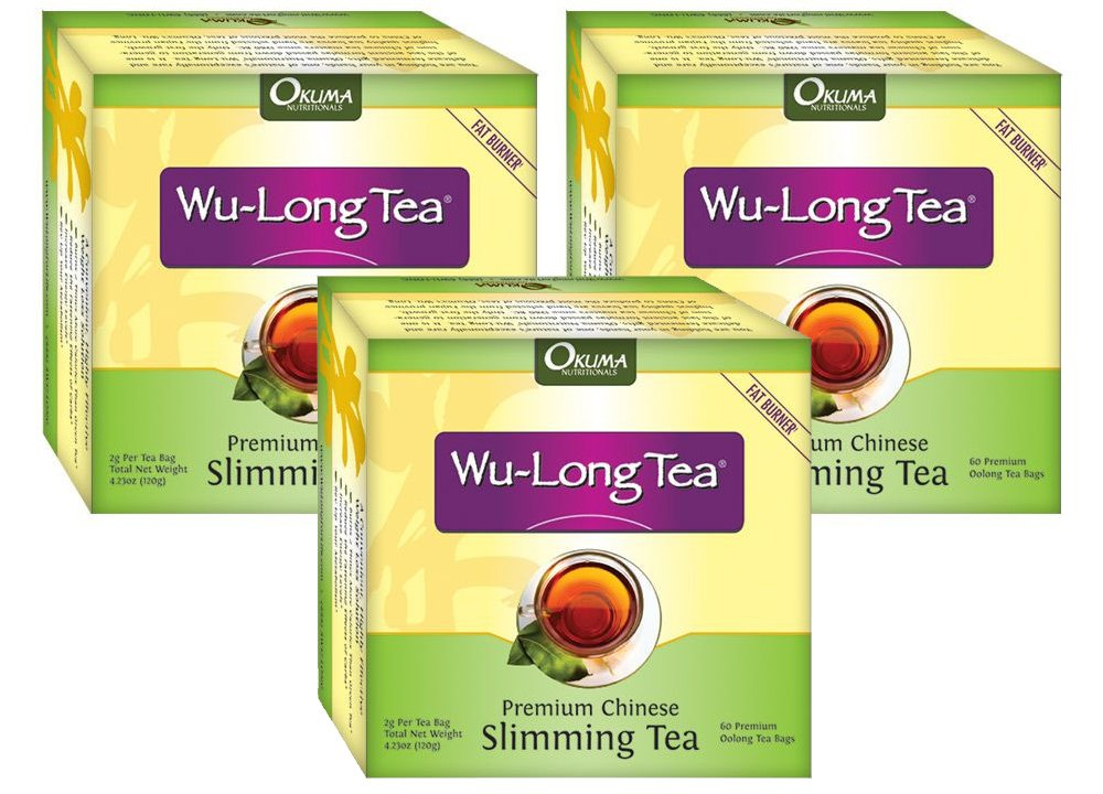 Premium Chinese Slimming WuLong Tea - All-Natural Weight Loss, Diet, Detox and Anti-Acne Oolong tea - Pure WuYi Oolong - 3 month supply with 180 tea bags by Okuma Nutritionals
