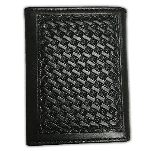 Ranger Belt Company Black Basketweave Trifold Wallet
