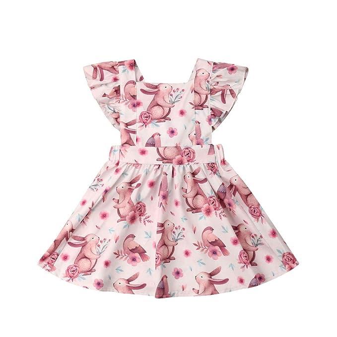 Amazon.com: Vestido de verano para bebé, niña de Pascua ...