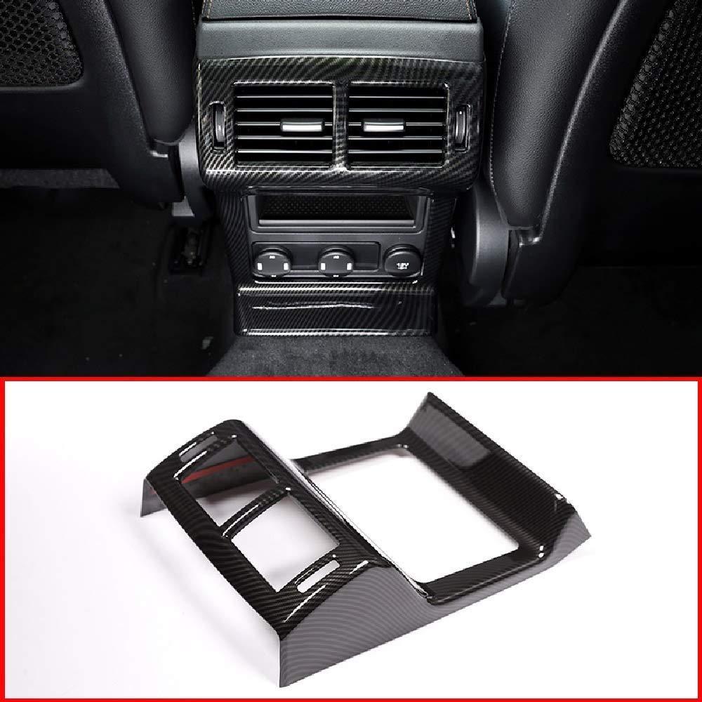 AUTO Pro for Jaguar F-Pace F PACE 2016-2018 ABS Plastic Rear Air Conditioning Vent Frame Trim Accessories Carbon Fiber Style