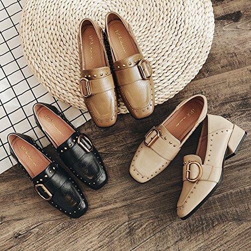 Mujer Jrenok Material Caqui Zapatos Sintético Cordones De fqBr1wxXq
