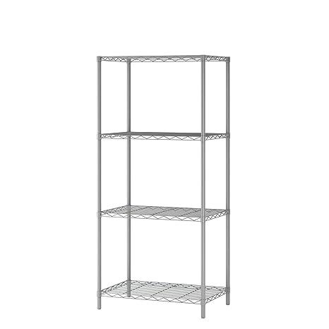Amazon Com Mulsh 4 Tier Wire Shelving Metal Wire Shelf Storage Rack