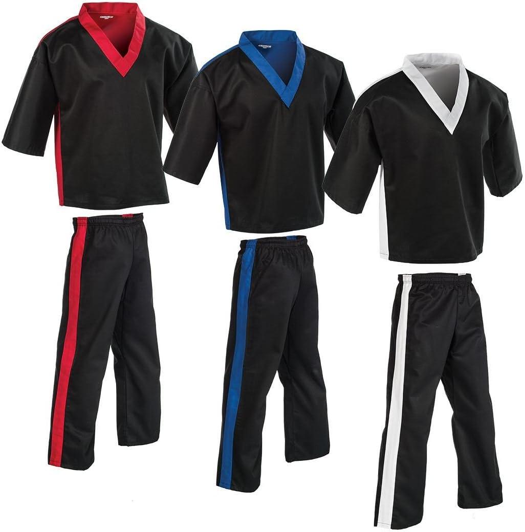 ProForce Demo Team Karate Uniform Martial Arts Gi Pants Black White Kids Adults