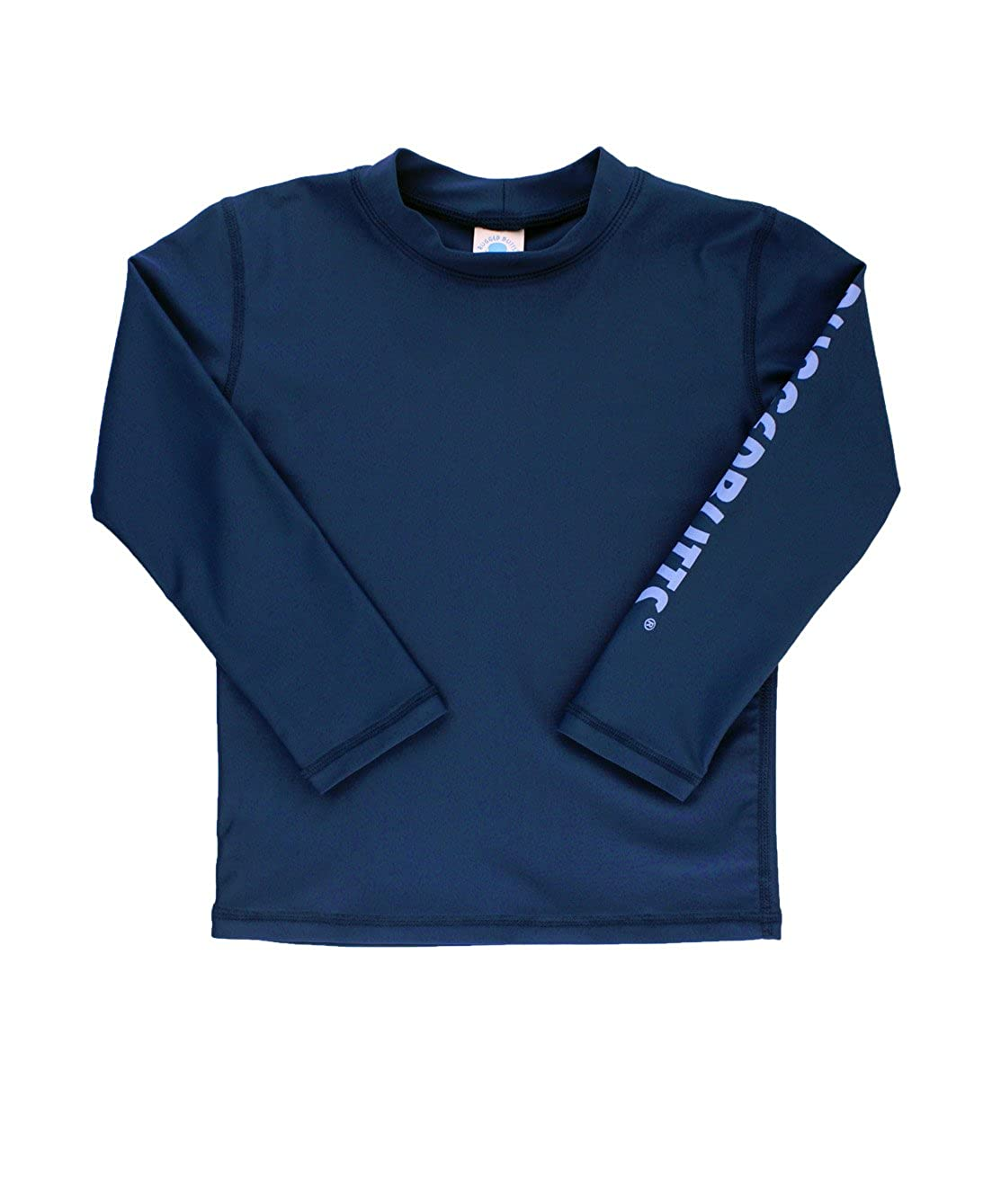 RuggedButts Little Boys Navy Long Sleeve UPF 50+ Sun Protective Rash Guard Surf Swim Shirt RGSNVXX-RBLG-TDLR