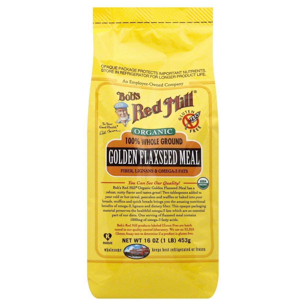 Bobs Red Mill Flaxseeds Golden Organic 16.0 OZ(Pack of 2)