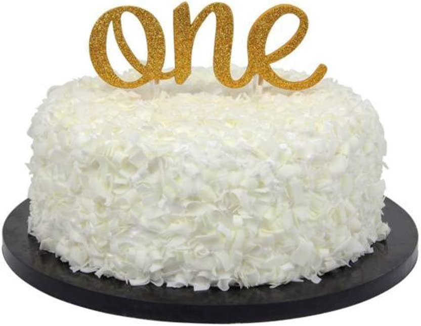 Number One Cake Topper for First Birthday and First Anniversary Decorations