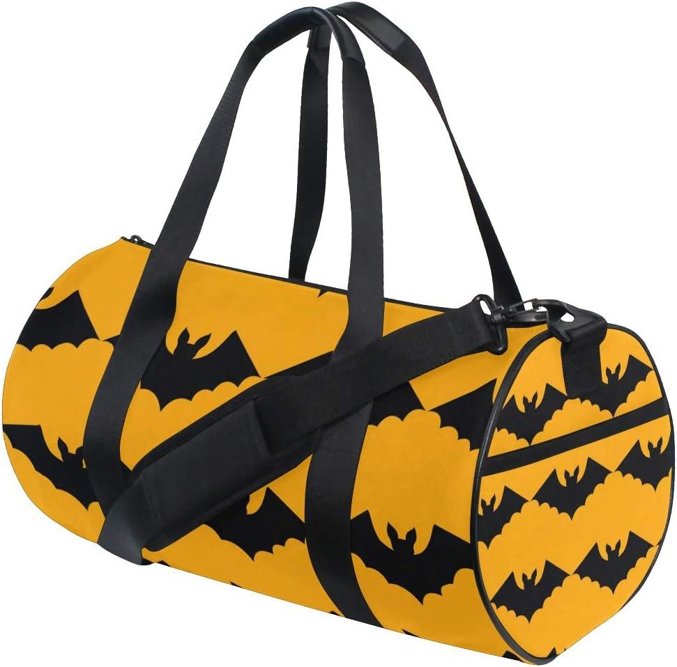 MALPLENA Black Bats Halloween Drum gym duffel bag women Travel Bag