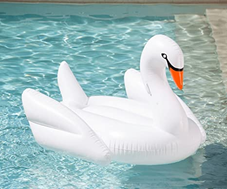 Color Dreams Colchoneta flotador gigante playa piscina Cisne Swan Blanco