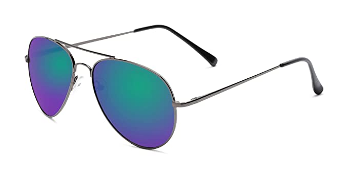 Amazon.com: anteojos de sol Warehouse multicolores Mirrored ...