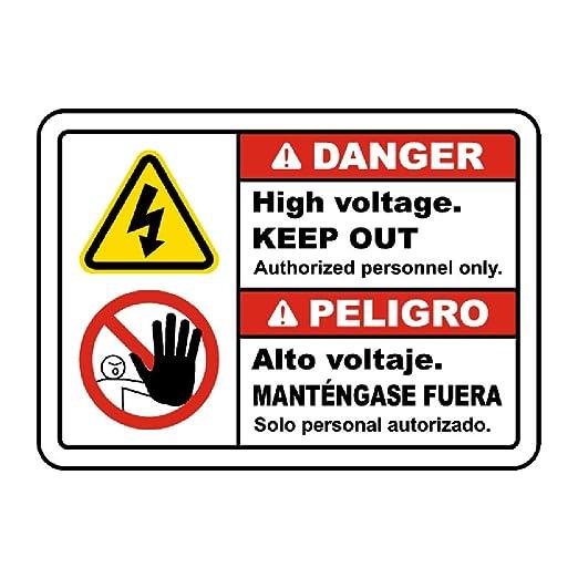 WallAdorn Danger Peligro Cartel de Chapa decoración de Pared ...