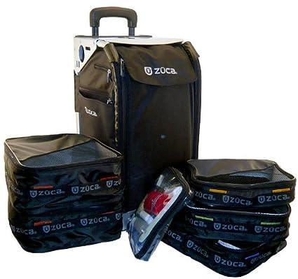 Amazon.com: zuca Bolsa, Rolling Suitcase, Negro sobre Plata ...