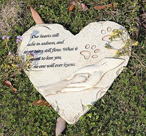 """JHB Pet Memorial Stepping Stone Heart Shape 9"""" for Garden..."""
