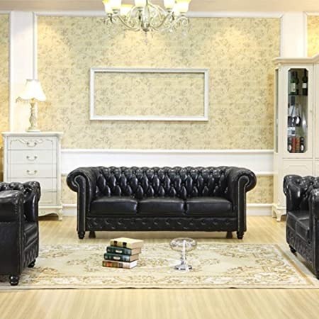 WSN Rinconera sofá Sofa en Cuir PU Soft Touch réversible ...