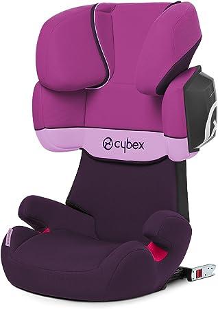 Comprar Cybex Silver Solution X2-Fix - Silla de coche  con y sin Isofix, Grupo 2/3 (15-36 kg), Desde los 3 hasta los 12 años aprox., Morado (Purple Rain)