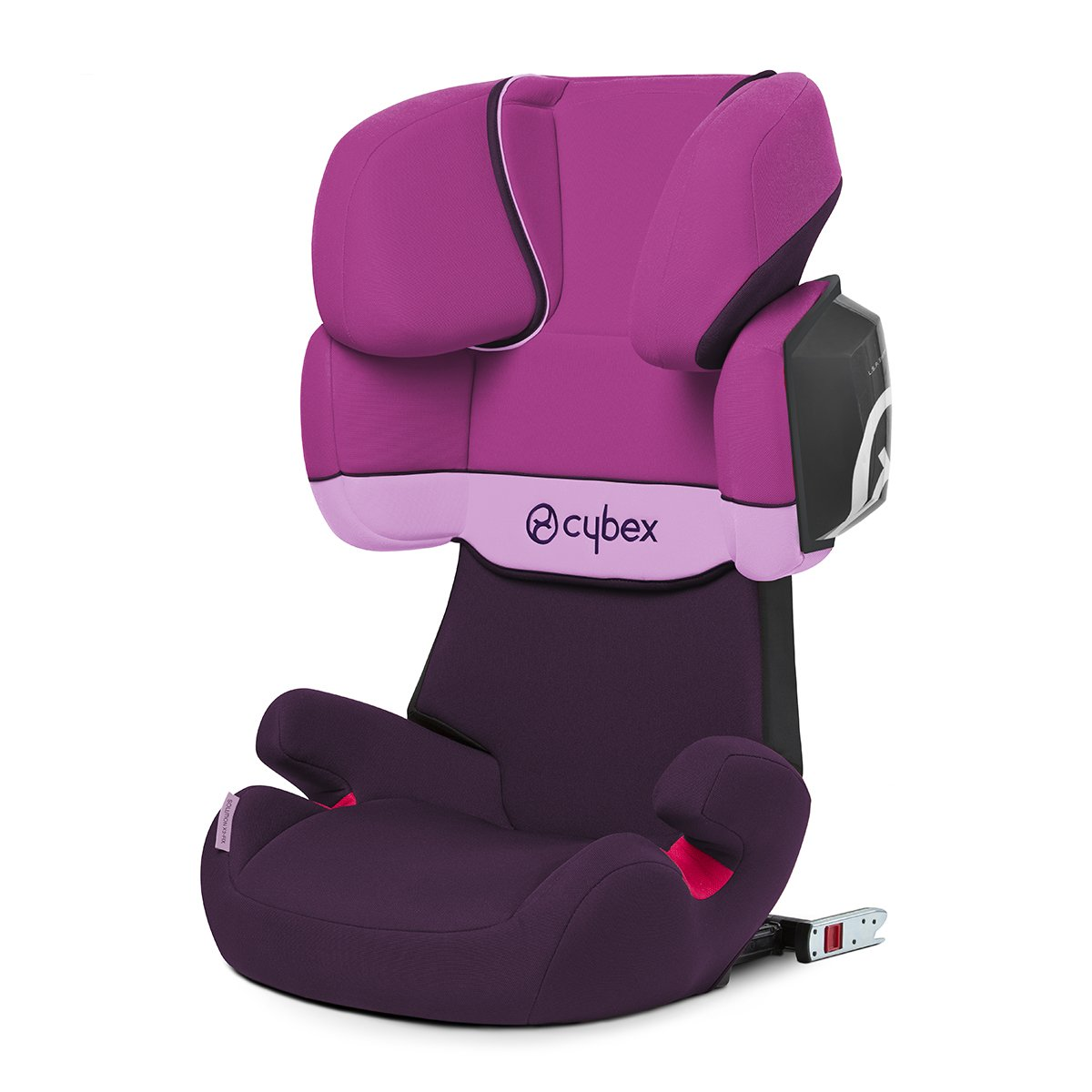 Cybex Silver Solution X2-Fix Child's Car Seat, with Reclining Headrest and ISOFIX Compatible, Group 2/3 (15-36 kg), From Approx. 3 to Approx. 12 Years, Purple Rain