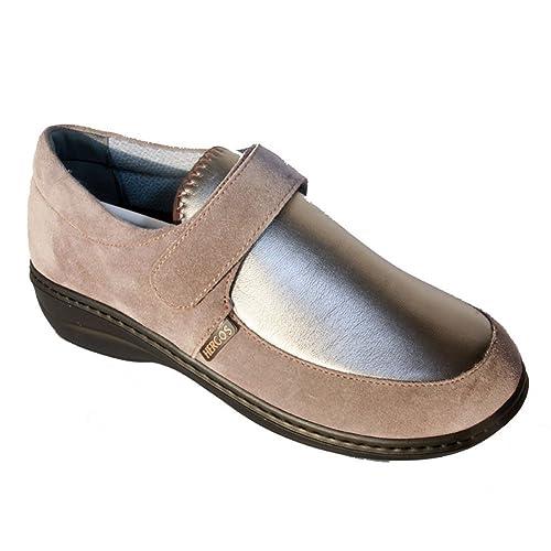 Hergos H 945 Pardo Nappaflex - Zapato ergonómico para juanetes - Ante Beige Size: 38: Amazon.es: Zapatos y complementos
