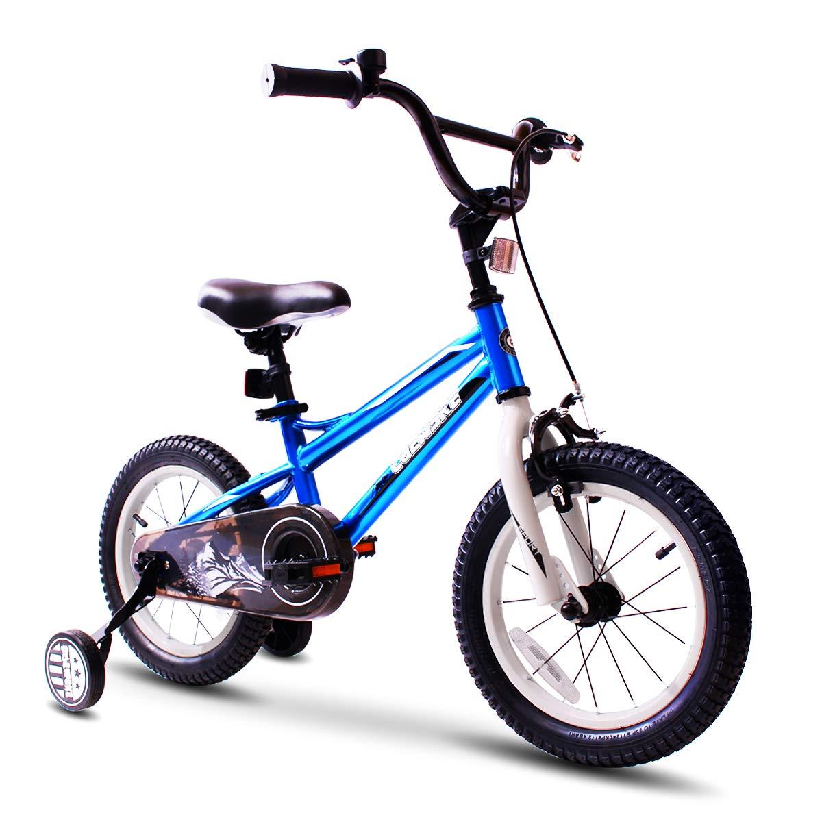 COEWSKE 12インチ 子供用自転車 トレーニングホイール付き 2~4歳 女の子と男の子用 4色展開  12 inch blue B07Q6XXFBL