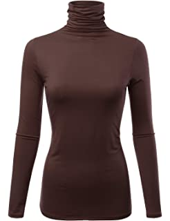 b704ff76a92 FASHIONOMIC Womens Premium Long Sleeve Turtleneck Lightweight Pullover Top  Sweater (S-3X
