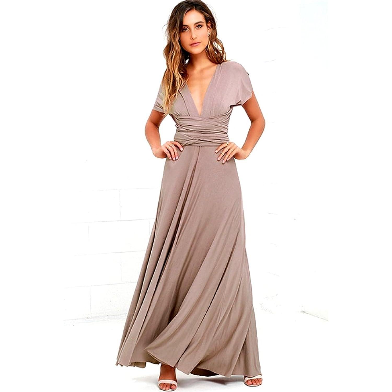 Infinity Kleid, Ballkleid, Brautjungfernkleid, Gr. 34-42 beige/braun ...