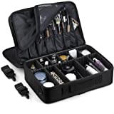 OUDMAY by Amazon - Makeup Bag - Professional Traveling Portable Cosmetic Storage Organizer With Straps and Double Layers…